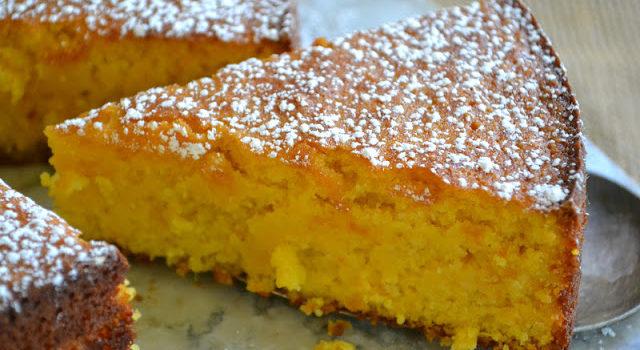 Посыпной пирог с мандаринами