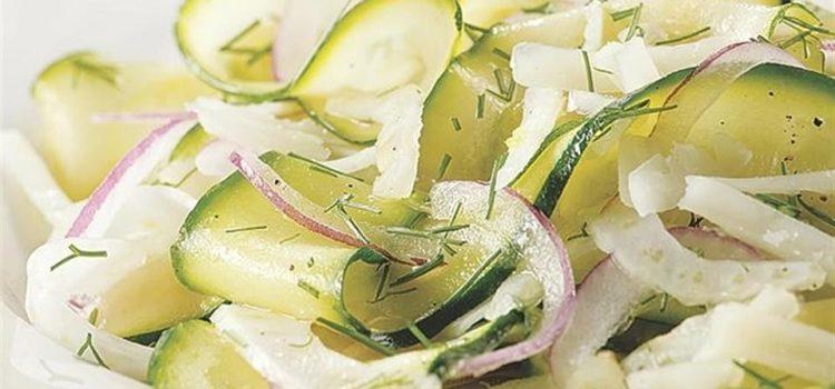 Салат из сырого кабачка